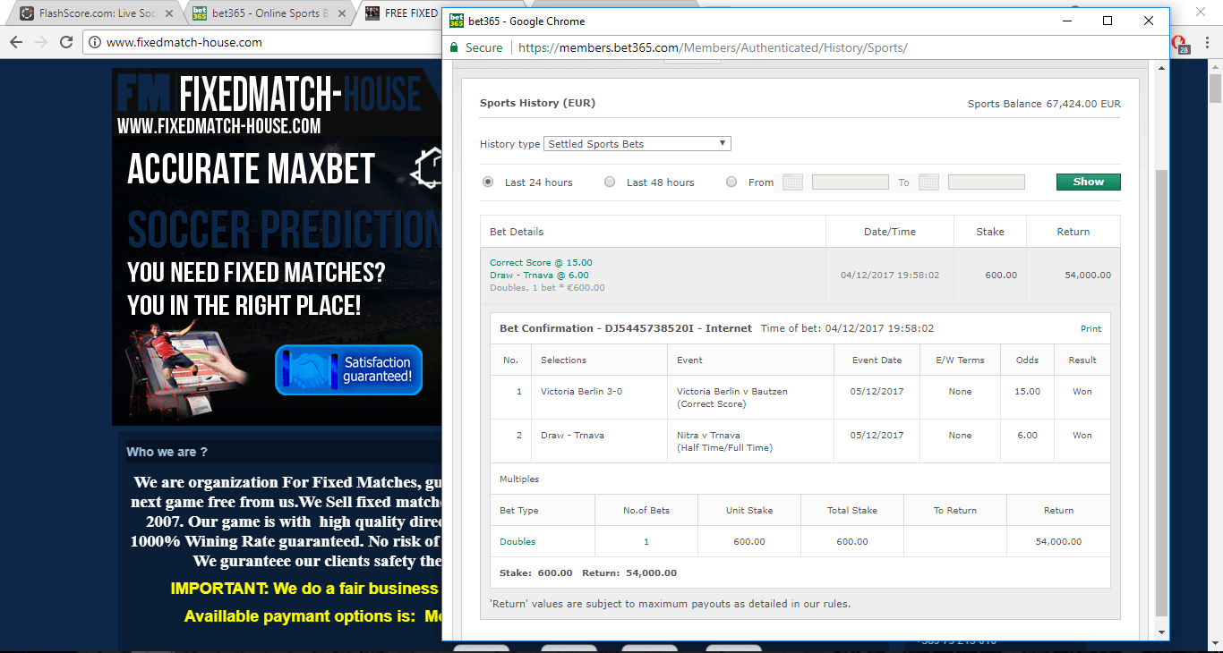 05.12 proof from fixed matches 100% sure direct from players