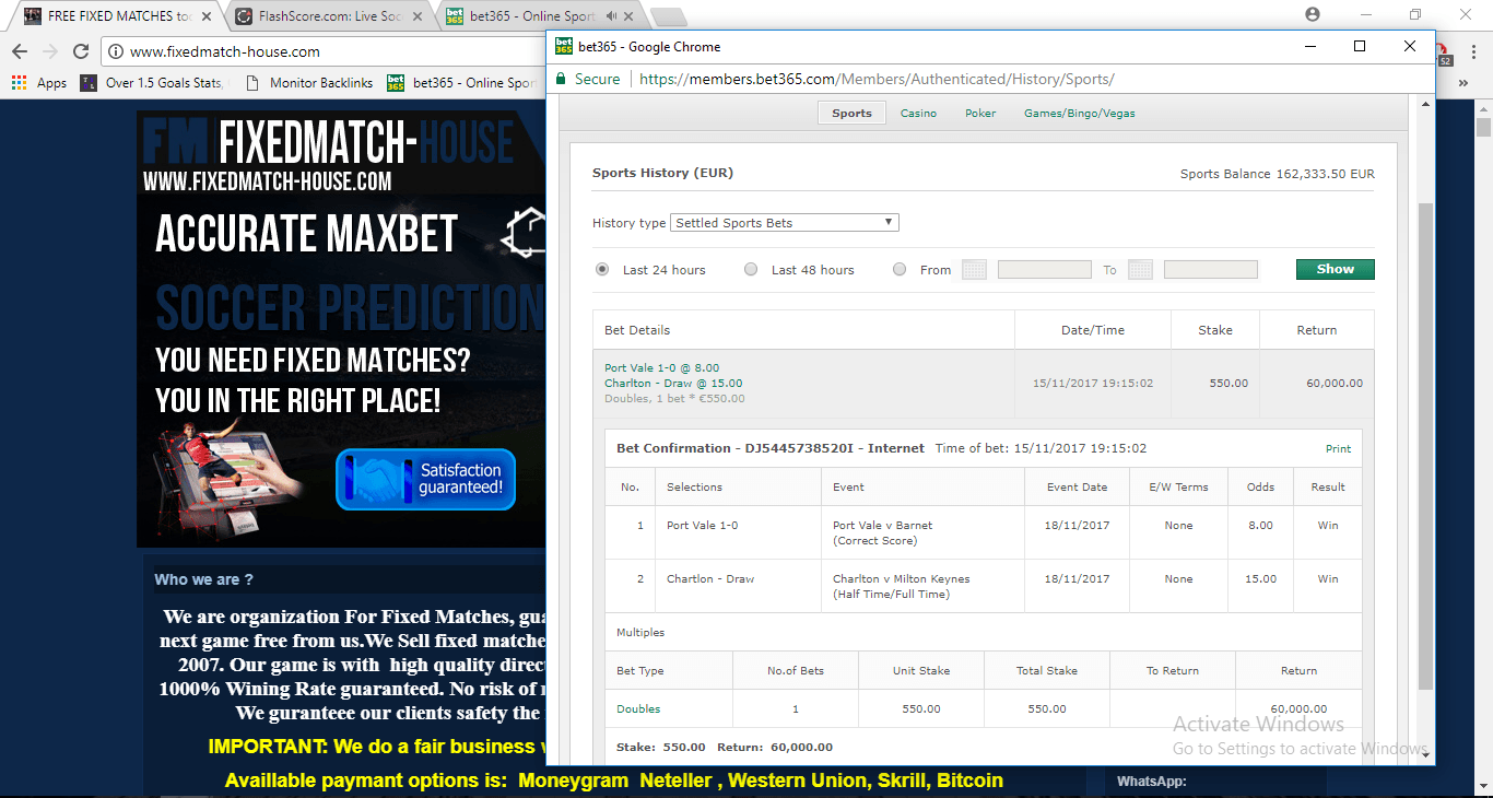 ticket proof for 18.11.2017