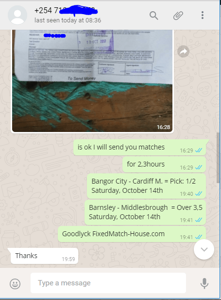 Proof1 from paymant via western union